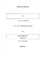 Extrait Compte Administratif 2019